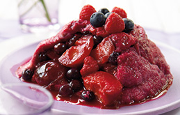 Plum and Summer Fruit Pudding