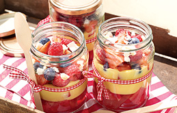 Berry and Coconut Trifles in a Jar