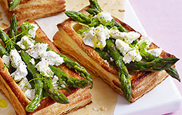 Asparagus and Feta Tarts
