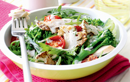 Blackened Cauliflower and Chicken Salad
