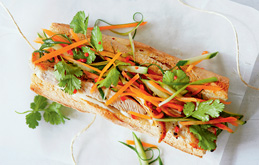 Asian-style Turkey Baguette