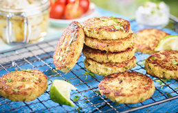 Quinoa Patties with Courgette and Feta