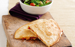 Cheese and Ratatouille Quesadillas