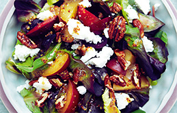 Plum and Goat's Cheese Salad
