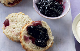 Cherry and Coconut Scones