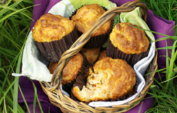 Savoury Carrot and Parmesan Muffins