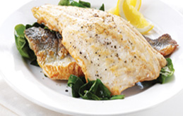 Lemon and Black Pepper Roasted Sea Bass