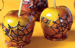 Spider Toffee Apples