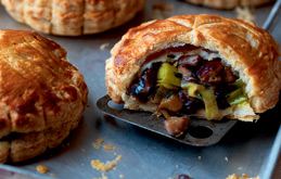 Chestnut Mushroom and Leek Pies