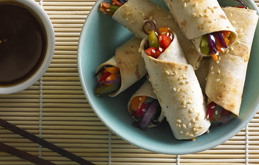 Oriental Vegetable Spring Wraps
