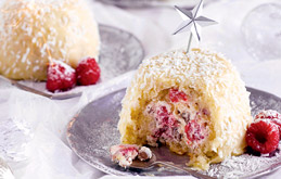 Mini White Chocolate and Raspberry Zuccotto