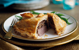 Individual Beef and Chestnut Wellingtons