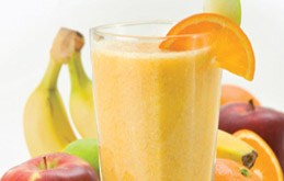 Apple, Orange and Banana Smoothie