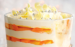 Clementine and White Chocolate Trifle