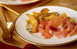 Parma Ham with Caramelised Pears