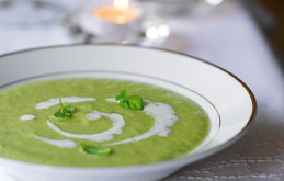 Minted Little Gem and Pea Soup