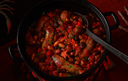 Campfire-style Baked Beans and Sausage Casserole