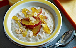 Toasted Almond Porridge with Apples