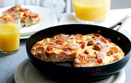 Sausage and Bacon Frittata