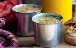 Spiced Crab and Sweetcorn Soup