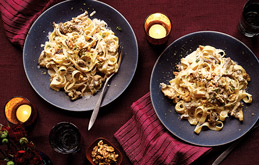Creamy Wild Mushroom and Walnut Pasta - For Farmers