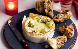 Baked Camembert with Rosemary and Crusty Bread