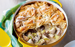 Lower-cal Chicken Pie