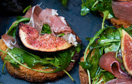 Fig, Prosciutto & Rocket Bruschetta
