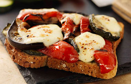 Roasted Vegetable and Mozzarella Toastie