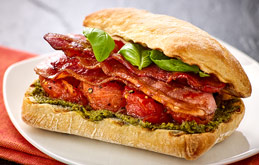 Bacon and Pesto Sandwich