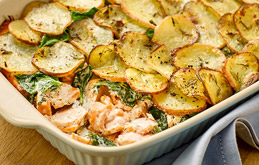 Creamy Smoked Salmon and Potato Bake