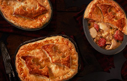 Chicken and Chorizo Pot Pies