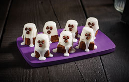 Chocolate Brownie Boo Ghosts