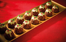 Christmas Pudding Rice Crispy Cakes