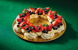 Meringue and Berry Wreath