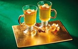 Warm and Fuzzy Mulled Apple Juice