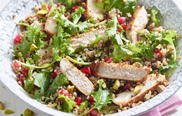 Moroccan Pomegranate Pork Medallions with Quinoa