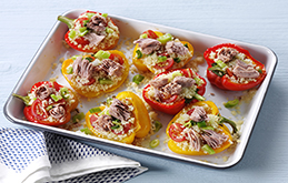 Tuna and Couscous Roast Peppers