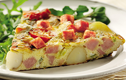 Ham, Cherry Tomato and Cheddar Frittata