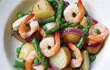 Jersey Royal, Prawn and Asparagus Salad