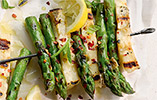 Asparagus and Halloumi Skewers with Mint