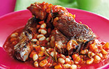 Lamb Chops with Rosemary Beans