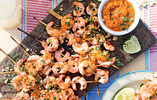Brazilian-style Prawn Skewers