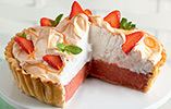 Pimm's Strawberry Meringue Pie