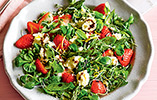 Strawberry Salad with Wensleydale Cheese
