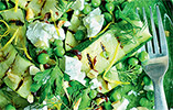 Courgette Salad with Goat's Cheese