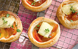 Peach and Brie Tartlets