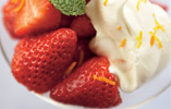 Strawberries and Citrus Cream