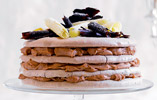Spiced Chocolate and Hazelnut Meringue Gateau