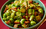 Pan-fried Sprouts with Diced Pancetta